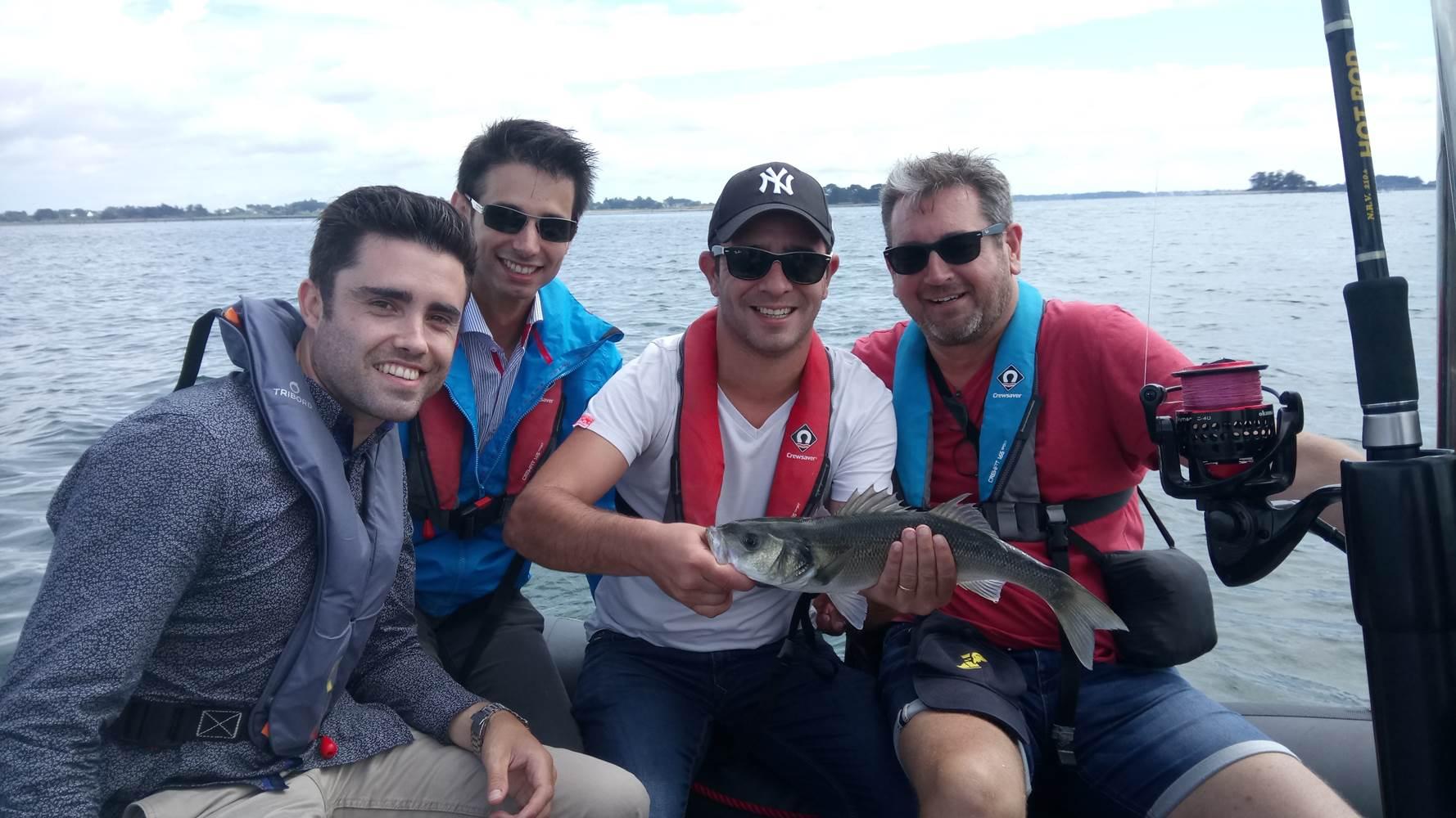 Sortie peche en mer à Sarzeau, au port du Logeo, avec Mickaël RIO comme guide de pêche ! ©
