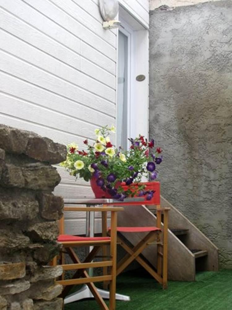 Bretagne Sud_Morbihan_Belle île en Mer_Hotel bord de mer_hotel Saint Amant_terrasse privative ©