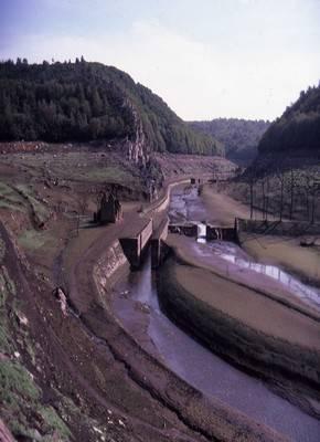 Vidange du Lac de Guerlédan