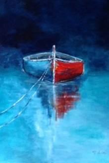 Exposition de peintures marines