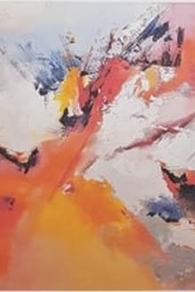 Exposition de Peintures abstraites - Restaurant