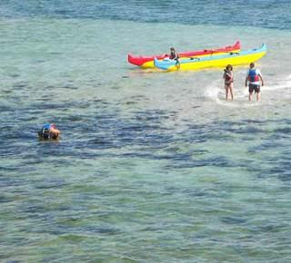 Pirogue hawaïenne en presqu'île de Quiberon