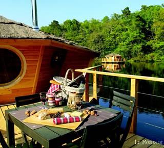 Le Moulin de Trevelo - Cabanes flottantes