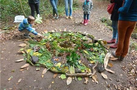 Créer avec la nature, land art
